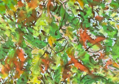 Acrylmalerei auf Filz